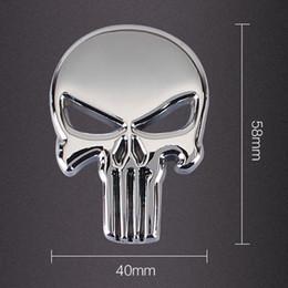 Le motocycliste de voiture Punisher 3D emblème en métal Badge Sticker Stickers Noir Argent Couleur ? partir de fabricateur