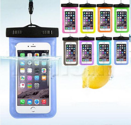 Wholesale Mobile Lanyards - Dry Bag Waterproof bag PVC Protective Mobile Phone Bag Pouch With Lanyards For Diving Swimming For Generic handset factory direct sales