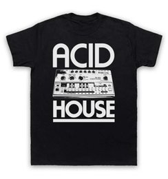 Wholesale Green T House - Acid House T Shirt Bass Synth