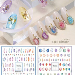 Più nuovo cristallo agata di pietra modello 3d nail art sticker nail decal timbro esportazione giappone disegni decorazioni di strass cheap stones for nails decoration da pietre per la decorazione delle unghie fornitori