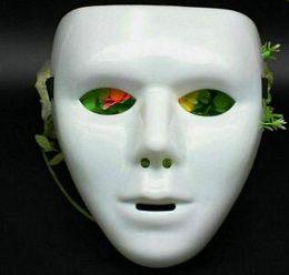 Хэллоуин маска для лица белый jabbawockeez маска хип-хоп jabbawockeez маска белый хип-хоп равнина маскарадные маски белый черный синий зеленый от Поставщики jabbawockeez белая маска для лица