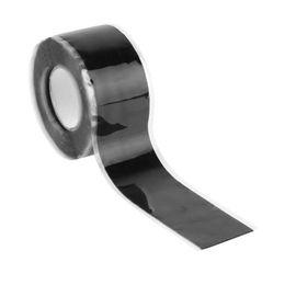 Schwarzes schlauchrohr online-2,5 cm * 3 mt Hitzebeständige Verklebung Selbstschweißendraht Schlauchband Schwarz Gummi Wasser Rohr Reparaturband Werkzeuge für Heimwerker