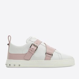 Wholesale toe punk - Women SNEAKER 2018 New Luxury Brand PUNK SNEAKER genuine leather Casual designer shoes Size 35-40 model 287770912
