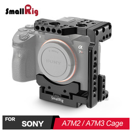 2019 kamera schieberegler großhandel Großhandel Schnellverschluss Kamera Käfig Half Cage für Sony A7R III / A7 III / A7 II / A7R II / A7S II A7M2 / A7M3 Zelle 2098