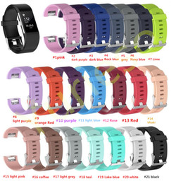 Preis smart watch online-Niedrigster preis 21 farbe silikonband für fitbit charge2 band Fitness Smart armbanduhren Ersatz Sport Strap Bands für Fitbit Charge 2