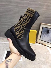 picture chains Promo Codes - 2018 Luxury Retro Ultra Boots Womens Shoes High Quality Boots Designer Shoes With Soft knitting Fall Winter Boots Plus Size Real Picture