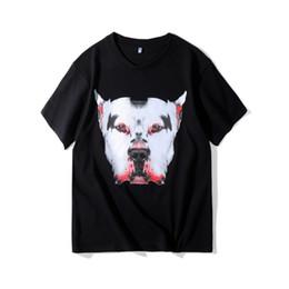 Deutschland 2018 hohe qualität Korea Hip hop mode neue tier muster handgemalte graffiti hundedruck t-shirt männer frauen Baumwolle kurzarm Versorgung