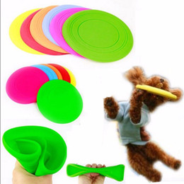 Wholesale fences small dogs - Soft Flying Flexible Disc Silicone Flying Saucer Tooth Resistant Outdoor Toy For Training Dog Puppy Pets DDA167