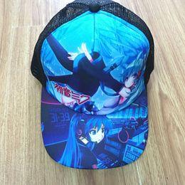 Cappello di picchi dei ragazzi online-Cappello Hatsune Miku Sun Cap Baseball con visiera snapback in maglia per ragazzi o ragazze