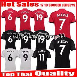 Wholesale Man United Shirt - 2017 2018 Soccer Jersey ALEXIS 7 17 18 Ibrahimovic MARTIAL LUKAKU MEMPHIS POGBA MKHITARYAN RASHFORD United Home away jerseys football Shirts