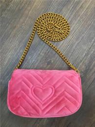 Canada Marmont mini sac de velours femmes célèbre marque sacs à bandoulière en cuir véritable sac à bandoulière sac mode hiver sacs à main de luxe italien femmes sacs Offre