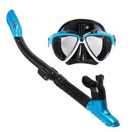 703d69abc Lixada Máscara Snorkel Tubo de Snorkel Set Anti-nevoeiro Óculos de Mergulho  de Natação com Respiração Fácil Tubo de Snorkel Seco Snorkeling Óculos