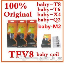 Wholesale Coil Head Core - 100% Authentic Smok TFV8 BABY Beast Tank Coils Head V8 Baby-T8 T6 X4 0.15ohm Q2 0.4 0.6ohm Core