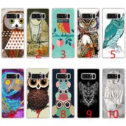 Caixa do telefone do silicone da coruja on-line-Interessante design retro coruja café soft silicone phone case para samsung note 9 8 s7 edge s8 s9 além de