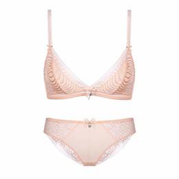 118a9b8327443 2018 New Sexy Lace Push Up Bra Set Mesh Underwear Lingerie Panties Briefs  Bra Sets Sexy Lingerie Lace Wire Free S M L XL BS156