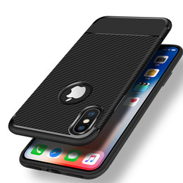 Wholesale Iphone Skin Case Design - Armor Hybrid Carbon Fiber Fashion Design Shockproof Soft Sillicone TPU Cover Case Skin For iPhone X 8 7 Plus 6S Samsung Galaxy S9 S8 Note 8
