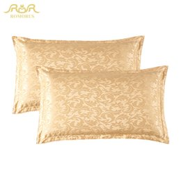 Wholesale Hospital Quality - ROMORUS 100% Pure Mulberry Silk Pillowcase 48*74cm (2-Pieces Pair) Satin Silk Pillow Case Quality Bed Sleeping Pillow Covers Hot