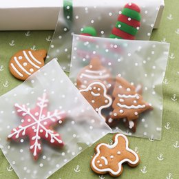 Wholesale Candy Bags For Weddings - 100pcs Sweets Cookie Cake Candy Bag 4 Sizes Thank you Lovely Flower Snow Self-Adhesive Plastic Bags For Biscuit Baking Wedding Party Package