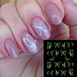1 levhalar Sıcak Kelebek Yay Tasarımlar Aydınlık Nail Art Shinning Glitter Nail Art Etiketler Süslemeleri Manikür İpuçları Araçları TRDG-007 cheap butterfly nail designs stickers nereden kelebek çivi tasarımları çıkartmaları tedarikçiler