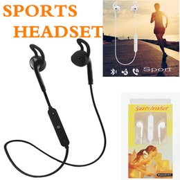 Wholesale Wireless Bluetooth Neckband - Bluetooth Headphones Headset Sports Wireless S6 Stereo Neckband In-ear Headset with Microphone Outdoor Sport Running for Iphone 8 S9 note8
