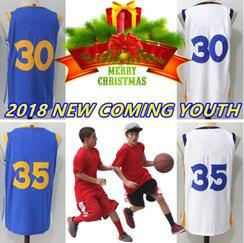 Wholesale Gifts Christmas Presents - YOUTH 18 NEW VERSION Stitched wholesale jerseys Sport Jersey gift MEN Free shipping CHRISTMAS DAY GIFT PRESENT CURRY DURANT