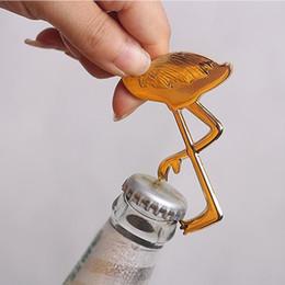 apri di bottiglia di uccelli Sconti Nuovo apribottiglie Regalo di ritorno e di consegna Golden Flamingo Apribottiglie Bird beer apribottiglie T4H0484