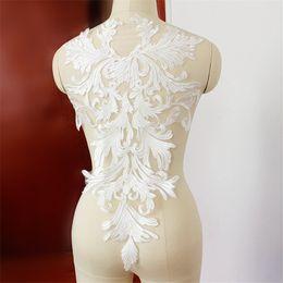 garniture à motif applique Promotion MEETEE blanc fleur Motif dentelle applique, dentelle Garniture Applique, dentelle de mariée de luxe DIY Accessoires 35 cm * 57 cm FZ023