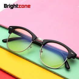 Computadoras de marca china online-Brightzone TR90 Glasses Blue Light Computer Mirror Game Gaming Hombres Mujeres Moda Espectáculo óptico Classic Brand Eyeglass (China)