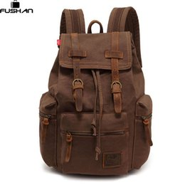 best color backpack Coupons - new Best Selling Cathylin unisex trend fashion Canvas backpacks men's Multifunction backpacks women's traveling daily backpack