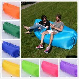 Wholesale fast chairs - Ourdoor Beach Portable Sleeping bag Collapsible Fast Inflatable Sofa Europe and the Unitede States Ultra Light Air Sofa Lazy Bed Chair