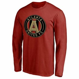 Wholesale Atlanta T Shirts - Sweater Men's Atlanta United FC football Cardinal Primary Logo Long Sleeve T-Shirt Sweater
