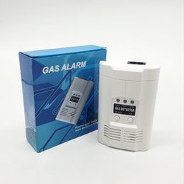Wholesale combustible gas alarm detector - GA504 GAS alarm Combustible Gas or Carbon Monoxide Gas Detector Home Security Warning LCD Photoelectric Independent