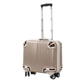 2019 case pouces 16 Femmes Mode Bagage à main Voyage ABS + PC Spinner Valise Couleur Visage Chariot Bagages 16 Pouce Embarquement Cas 4 Couleurs case pouces 16 pas cher