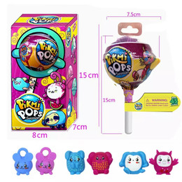 Wholesale Newborn Baby Fashion - Pikmi Pops 3 INCH Surprise doll Unwrap Scented Color Changing Glittering Ball with Ramdon Plastic Figures Pikmi Pops Toy For Kids.