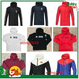 18f831a610ebfd TOP Psg Paris jordan hoodie jackets 18 19 Juventus Real Madrid Barcelona  Chelsea Bayern tracksuit football jacket Sweat à capuche Survêtement de  football ...