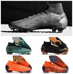Wholesale Cheap Quality Boots - 2018 top quality mens soccer cleats Mercurial Superfly VI 360 Elite Ronaldo FG soccer shoes chaussures de football boots high ankle cheap