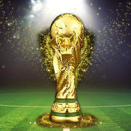 Wholesale fast deliver - 2018 Titan Cup Artware Resin Model 21cm 27cm 36cm 44cm Russia World cup football trophy Fans Souvenir gift DHL Fast delivered