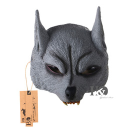 Wholesale masquerade wolf masks - H&D Animal Masquerade Wolf Mask for Halloween Decoration Mens Boys Mask for Fun
