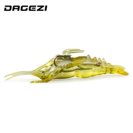 japan jig Promo Codes - DAGEZI Soft Artificial Shrimp Baits 50pcs Soft Shrimp Lure 4CM Shrimp Soft Baits Fish Fishing Lure Japan Prawn Salmon Lures 77#