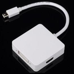 Canada 3 en 1 Mini Displayport DP mâle vers DVI Adaptateur de câble HDMI DP Affichage pour Mac MacBook Pro Air pour MacBook Air Pro supplier macbook air dvi Offre