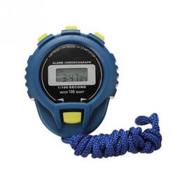 temporizador profesional Rebajas 1 pc de alarma Cronógrafo Cronómetro de mano Profesional Cronómetro Temporizador deportivo LCD digital Cuenta atrás Reloj Temporizador