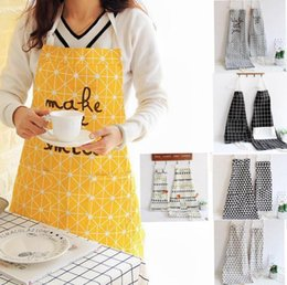Wholesale Wholesale Aprons For Kids - new Funny Cartoon Ins baby Kids Aprons For Adult And Child Parent-child Housework Apron Kitchen Cookin Cute Apron 9 design WN405
