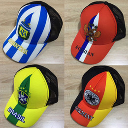 Wholesale Hat World Cup - 2018 Russia World Cup Fans Productsgifts Baseball Hats Wholesale Peaked Snapback Cap Sun Hat for Men Women