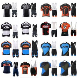 cycling jerseys sets Australia - KTM team Cycling Short Sleeves jersey (bib) shorts sets Breathable quick dry Outdoor Sports men Clothing D1332
