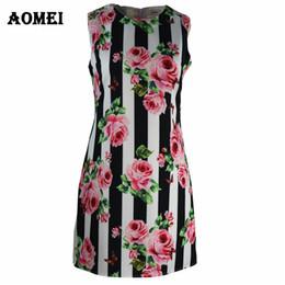 Wholesale mini tunic - Summer Dress Retro Printed Floral Plus Size 3XL Tank Tunic Female Sleeveless Ladies Work Wear Beachwear Boho Women Gowns Dresses