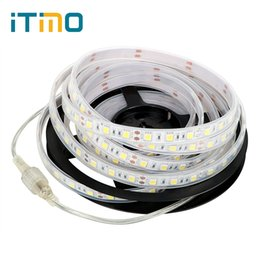 Wholesale Pool Decor - iTimo 5m 300LEDs LED Strip Lights Waterproof Flexible Lamp Underwater Lights DC12V Garden Patio Decor Light IP67 SMD 5050