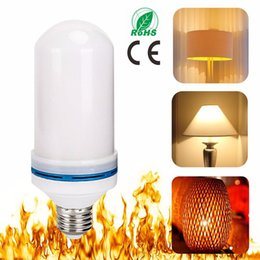 Wholesale Cree Fire - E27 E26 2835SMD 7W LED Flame Effect Fire Light Bulbs Flickering Emulation Decorative Flame Lamps For Christmas Halloween lights Decoration