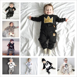 79fcaa82057d Baby Clothes Boys Ins Summer Outfits Girls Cotton T Shirt Pants Floral Tops  Leggings Suits Long Sleeve Animal Printed Kids Clothing B3838