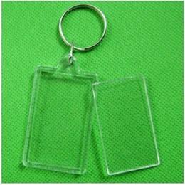 "Wholesale Blank Keychains - 170pcs Blank Acrylic Rectangle Keychains Insert 2""x 1.25""Photo Keyrings (Key ring chain)"
