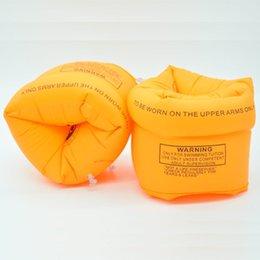 Juego inflable de la nadada online-2 piezas / set inflables anillos de brazo de piscina Juguetes de piscina - Aprender Swim Float Circle - niños adultos chaleco de vida Niños juguetes de agua nadar vueltas
